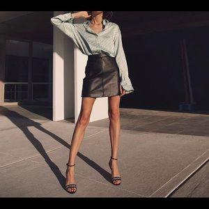 MaxMara weekend leather skirt size 8